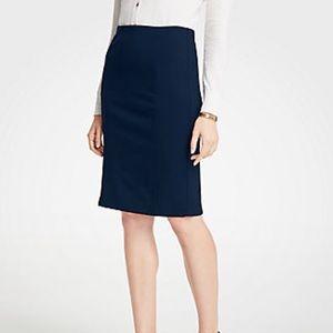 Ann Taylor Ponte Pencil Skirt, Atlantic Navy, 12